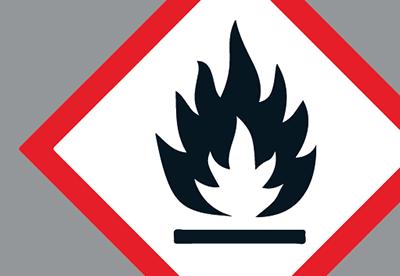 Grafisk symbol för brandfarliga varor